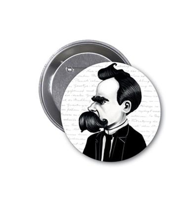 Aylak Adam Hobi-Friedrich Nietzsche Karikatür Rozet
