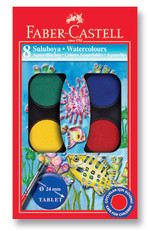 Faber-Castell Suluboya, 8 Renk Küçük Boy   - 5292125008