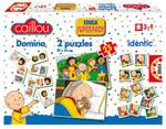 Educa Puzzle Çocuk Caillou Domino - 2 X 25 Puzzle - Identic Superpack 14094