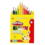 Play-Doh 12 Renk Kuru Boya Yarim Boy PLAY-KU002