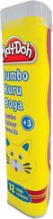 Play-Doh 12 Renk Jumbo Üçgen Kuru Boya Tüp PLAY-KU006