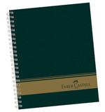 Faber-Castell Sert Kapaklı Seperatörlü 3+1 Bölümlü Yeşil Defter 120 Yaprak