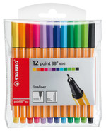 Stabilo Point 88 Mini Askılı Paket 12 Renk 688/12-1