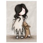 Santoro Gorjuss - Eclectic Kartpostal I Love You Little Rabbit - Santoroes069