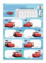 Cars Ders Programli Okul Etiketi (3'Lü Poset) 220130