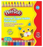 Play-Doh 12 Renk Natturel Jumbo Mini Kuru Boya PLAY-KU009
