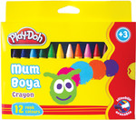 Play-Doh 12 Renk Crayon Karton Kutu 11mm PLAY-CR005