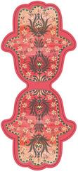 Galeri Alfa Fatma'nin Eli Kitap Ayraci - Kirmizi Zemin, Sari Çiçek 2030106