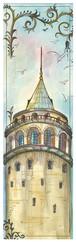 Galeri Alfa Istanbul Serisi Kitap Ayraci Galata Kulesi-2 2010103