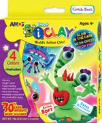 Amos I-Clay Gece Parlayan Oyun Hamuru 18Gr 4 Renk  - Ic18P4S