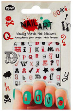 NPW Nail Art Sticker Wacky Words / Sticker Harfler Tirnak Süsü NP9323