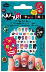 NPW Sugar Skull Nail Stickers / Kurukafa Tirnak Stickerlari NP12026
