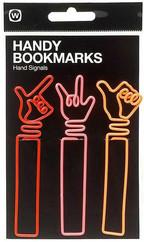 NPW Handy Bookmark - Hand Signals / Eller Kitap Ayraci & Ataç W5486