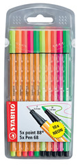 Stabilo Point 88+Pen 68 Neon 10'Lu Paket 8868/10-1 51008292