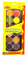 Play-Doh 12 Renk Tablet Sulu Boya 30 mm Play-Su006