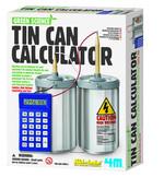 4M Green Scıence Tın Can Calculator / Metal Kutu Hesap Makinesi 3360