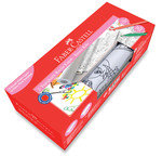 Faber-Castell Baskili Yapiskanli Resim Kagidi & Keçeli Kalem Seti - Kiz - 5089871100