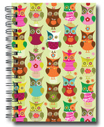 Deffter Lovely Serisi 20x28/Spiralli Sert Kapak Owls Green 64200-7