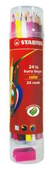 Stabilo Color 24'Lü Plastik Tüp 1224/77-PT