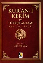 Kur'an-ı Kerim ve Türkçe Anlamı Meal ve Sözlük Küçük Boy