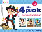 4 Mini Puzzle - Sevimli Korsanlar
