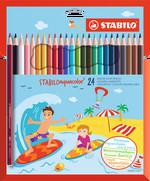STABILO Aquacolor Sulandırılabilir Kuru Boya Kalemi 24'lü Paket 1624-6
