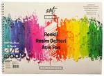 Artwork Renklı Resım Defterı-Açık Fon 25x35 16yp