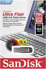 SanDisk Ultra Flair™ USB 3.0 64GB SDCZ73-064G-G46