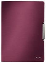 Leitz Style İnce Lastikli Dosya Garnet Kırmızısı