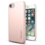 Spigen iPhone 7 Kılıf Thin Fit Ultra İnce - Rose Gold