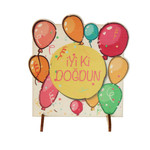 Ahşap Hediyelik Kart -  İyiki Doğdun Balonlar