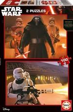 Educa Puzzle Star Wars Karton Puzzle 2X100 Parça 16521