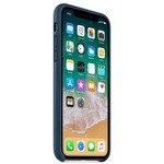 Apple iPhone X Deri Kılıf, Kozmos Mavisi MQTH2ZM/A