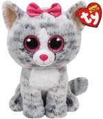 Ty-Pelüş Kiki Grey Cat Med 25cm.