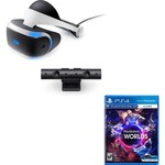 Sony Playstation 4 PS VR + VR Worlds + Camera Set