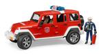 Bruder-Jeep Wrangler Rubicon İtfaiye Ve İtfaiyeci 2528