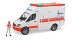 Bruder-Mercedes Benz Sprinter Ambulans Ve Ekibi 2536