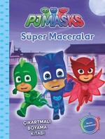 PJ Maskeliler-Süper Maceralar-Çıkartmalı Boyama Kitabı