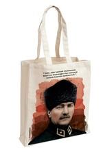 Atatürk Kalpaklı Aforizma Bez Çanta - Aylak Adam Hobi