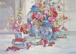 K.Color-Puz.500 Kiraz ve Çiçekler 34x49