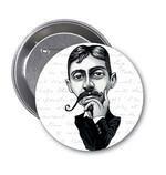 Aylak Adam Hobi-Marcel Proust Karikatür Rozet