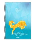 LeColor Defter A4 200 Sayfa Wolf Kareli