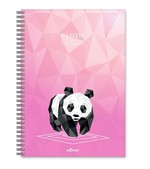 LeColor Defter A5 200 Sayfa Panda Çizgili