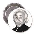 Aylak Adam Hobi-Albert Einstein Karikatür Rozet
