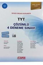TYT Çözümlü 4 Deneme Sınavı-Mavi Seri