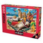 Anatolian Puzzle 260 Parça Kedilerin Plaj Keyfi 3322