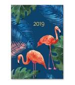 LeColor Ajanda Haftalık Tropical Lacivert Flamingo 15x21