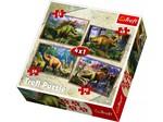 Trefl Puzzle 4 in 1 Dinosaurs 34249