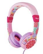 Trust Urban Çocuklar için SPILA Mikrofonlu Kulak Üstü Kulaklık Çicek Desenli