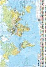 Dünya Siyasi-Fiziki Haritası 50x35